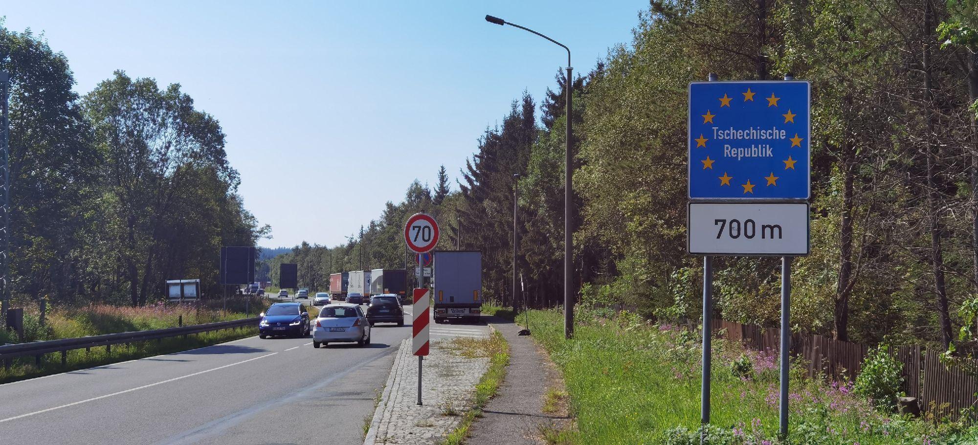 Reitzenhain an der Grenze zur Tschechischen Republik
